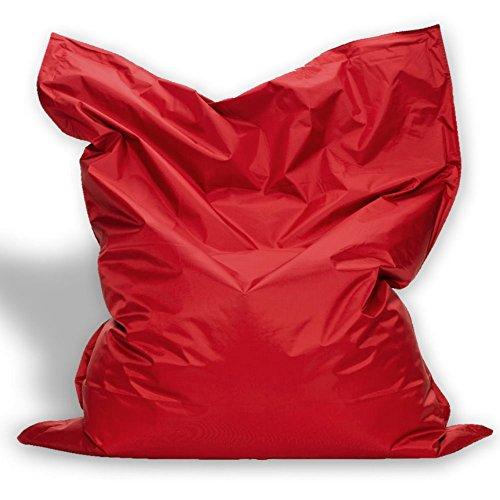 Sitzkissen XL-XXXXL Sitzsack Bodenkissen Kissen Sack In-und Outdoor (XL= 145 x 100, Rot)
