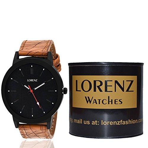 Lorenz MK-1061A Dotted BIG Black Dial Watch For Men & Boys
