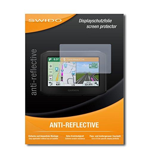 SWIDO Schutzfolie für Garmin zumo 396 LMT-S [2 Stück] Anti-Reflex MATT Entspiegelnd, Hoher Härtegrad, Schutz vor Kratzer/Displayschutz, Displayschutzfolie, Panzerglas-Folie