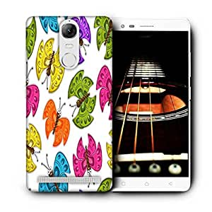 Snoogg Colorful Butterflies Printed Protective Phone Back Case Cover For Lenovo K5 Note