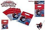 COLORBABY, 71905, Confezioni 8 Spiderman partybags, Confezioni 8 Borse per Spiderman di Compleanno