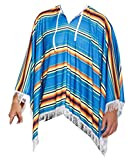 Clothing : MENS MULTICOLORED MEXICAN PONCHO COSTUME HAT CIGAR MUSTACHE ADULT FANCY DRESS