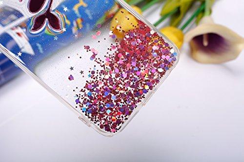 iPhone 6S Plus Hülle,iPhone 6 Plus Hülle,JAWSEU Bling Glitzer Shiny Mermaid Muster Crystal Klare Ultradünne Silikon Gel Schutzhülle Durchsichtig Kristall Transparent Bling TPU Silikon Bumper Schutz Ha Pink