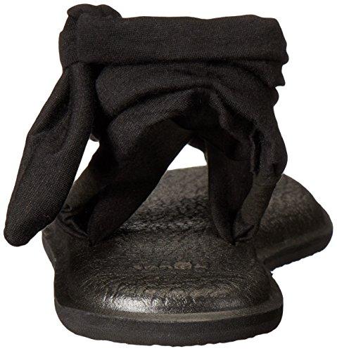 Sanuk Womens Yoga Slinged Up Gladiator Sandal Black