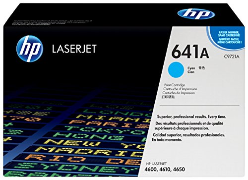 HP 641A (C9721A) Blau Original Toner für HP Color Laserjet 4600, HP Color Laserjet 4650 (Hp Laserjet 4600n Toner)