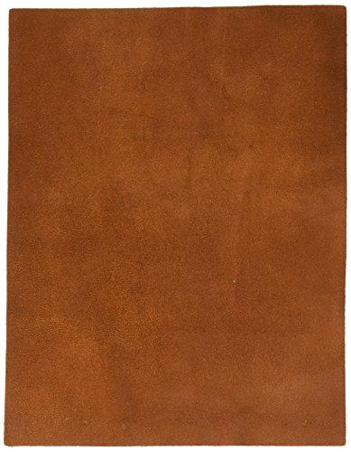 Realeather Crafts Leather Suede Trim Piece 8.5-inch x 11-inch, Medium Brown