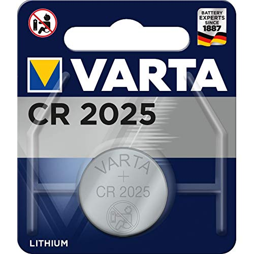Varta CR2025 Lithium 3 V non-rechargeable battery - non-rechargeable, Button/coin, 3 V, Lithium Batteries (CR2025, Silver, 20 mm)