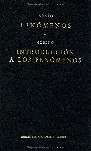 Fenomenos introduccion a fenomenos (B. BÁSICA GREDOS) por Arato