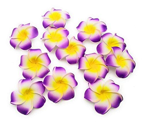 Satyam Kraft Big Foam Hawaii Beach Flowers(Pack of 24) For Wedding Box,...