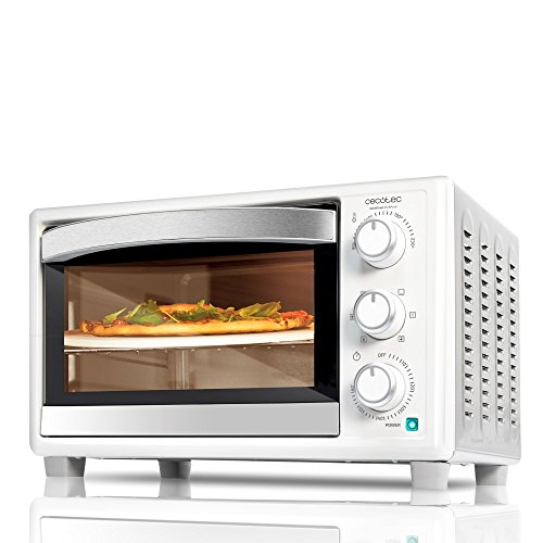 Cecotec Horno de convección con piedra para pizza.Horno eléctrico multifunción de sobremesa.Ideal...