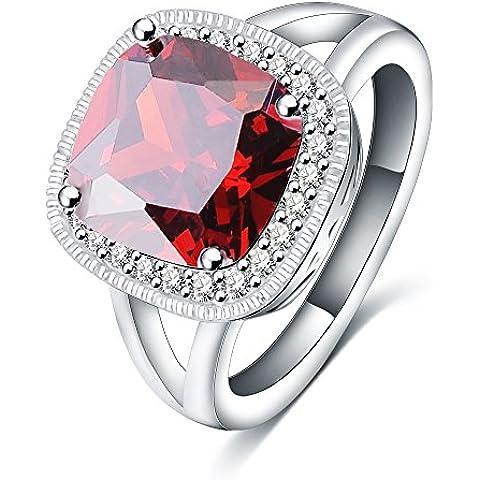 Uniry (TM) New Wedding di lusso di marca placcato platino AAA cristallo grande ovale anello vermiglio sposa gioielli CRI0233-B - Ovale Platino Anello