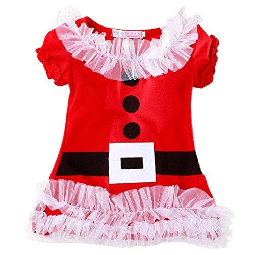 Vovotrade® Lace Stile abbigliamento Natale con maniche