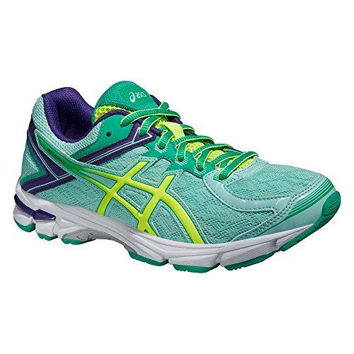 Asics Gt-1000 4 Gs, Chaussures de Running Entrainement Mixte adulte Bleu/Jaune/Vert