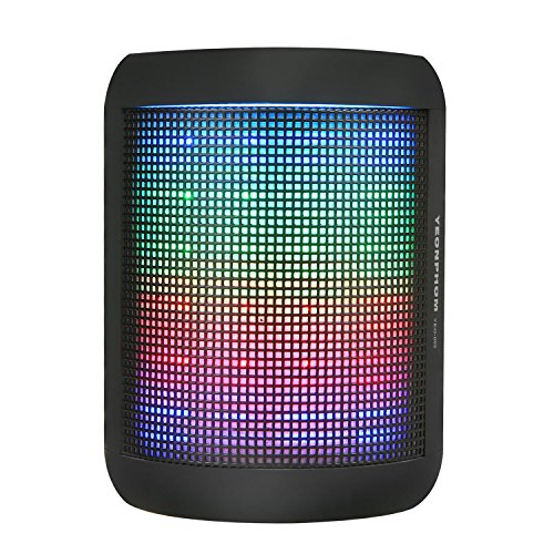 51DUmDdLxpL - BEST BUY #1 Bluetooth Speakers, YEONPHOM Super Bass Wireless Portable Outdoor Stereo Speaker with LED Colorful Light Build-in Mic Hands-Free Compatible with iPhone,iPad,iPod,Android Smart-phone,Latops(Black) Reviews and price compare uk