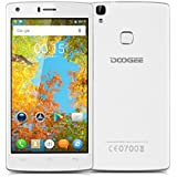 "DOOGEE X5 MAX Pro - Smartphone Móvil Libre 4G Android 6.0 (5.0"" HD Pantalla, Dual Sim, Quad Core, 16Gb Rom, 2Gb Ram, 5Mp Cámara, WIFI, GPS, OTA, Gesto Inteligente), Blanco"