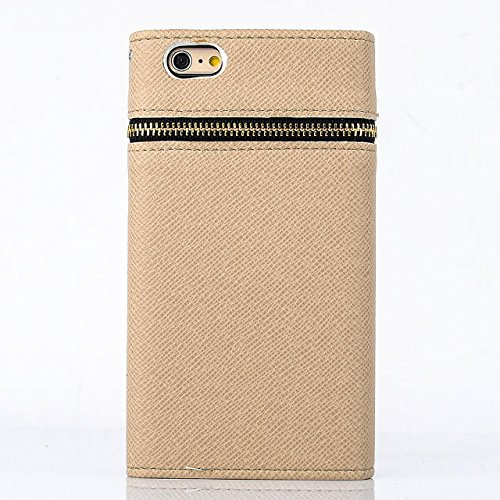 "inShang Hülle für Apple iPhone 6 Plus iPhone 6S Plus 5.5 inch iPhone 6+ iPhone 6S+ iPhone6 5.5"", Cover Mit Reißverschluss + Errichten-in der Tasche + Pirate Ship Decoration, Edles PU Leder Tasche Skin zipper flower gold"