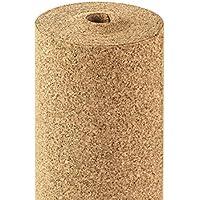Rollo corcho 2mm de grosor, 10qm, 10x 1m, acústico (Roll corcho de insonorización/para Flotante desplazada suelos laminados y parqué/wärmedämmende pared Murales