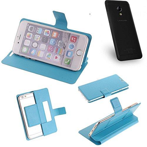 K-S-Trade Flipcover für UMIDIGI C2 Schutz Hülle Schutzhülle Flip Cover Handy case Smartphone Handyhülle blau