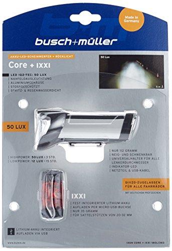 Busch & Müller Fahrradlicht IXON Core plus IXXI 50 Lux silber eloxiert, 180L/383 - 3