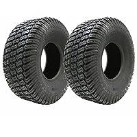 Set di 2 pneumatici per tosaerba, 16x6,50-8, a 4 strati