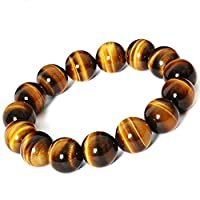 Tiger Eye Buddha Bracelets Bangles Elastic Rope Chain Natural Stone Bracelet For Women Men