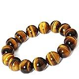 Tiger Eye Buddha Bracelets Bangles Elastic Rope Chain Natural Stone Bracelet For Women Men