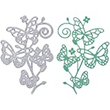 Scrapbooking dies de decoupe Cutting Dies pochoirs Matrices de découpe Bricolage Album papier carte Craft … (Fleur Papillon)