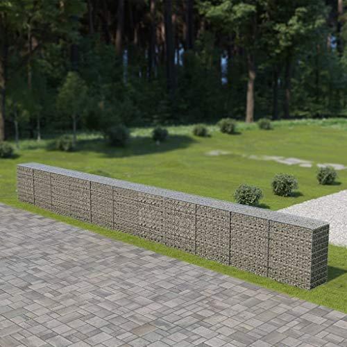 Mur à gabion avec couvercles Acier galvanisé 900 x 50 x 100 cm