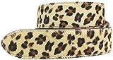 Brazil Lederwaren Wechselgürtel mit Fell ohne Schließe 4,0 cm