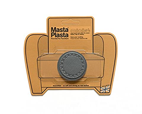 MastaPlasta, Leather Repair Patch, First-aid for Sofas, Car Seats, Handbags, Jackets, etc. Grey Color, Small Circle 2-inch by 2-inch, Designs Vary by MASTAPLASTA