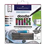 Faber Castell Mixed Media Doodle Art Kit with Gelato, PITT Artist Pens & Graphite Pencil by Faber Castell