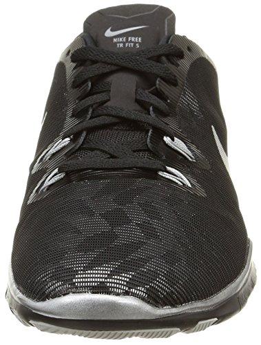Nike W Free 5.0 Tr Fit 5 Mtlc, Scarpe sportive, Donna Black/Metallic Silver-Flt Slvr