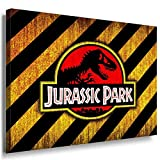 Jurassic Park Leinwandbild LaraArt Bilder Mehrfarbig Wandbild 40 x 30 cm