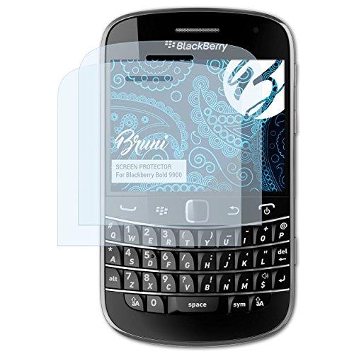 Bruni Schutzfolie kompatibel mit BlackBerry Bold 9900 Folie, glasklare Displayschutzfolie (2X) Blackberry Bold Screen Protector
