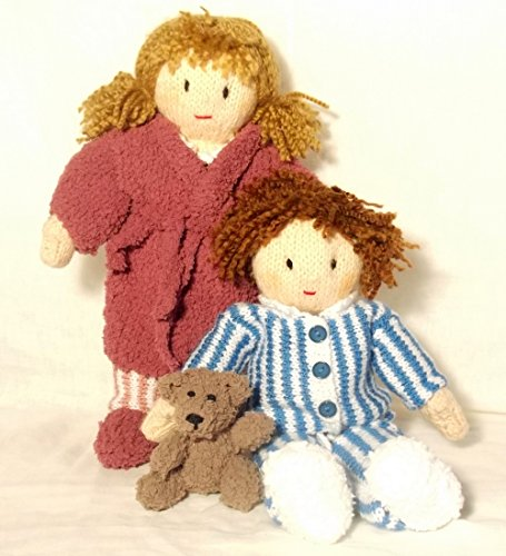 -Time for bed - Knitting Pattern (Jesse and Josie Dolls Book 3) (English Edition)