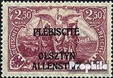 Allenstein 13b mit Falz 1920 Germania (Briefmarken für Sammler)