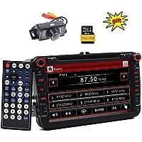 Doble DIN GPS Car Stereo 8 pulgadas Digital pantalla táctil WinCE sistema coche DVD reproductor en