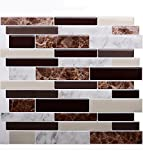 Vamos Tile Premium Anti Schimmel schälen und Stick Fliesen Backsplash aufkleben Backsplash Wandfliesen für die Küche & Bad-REMOVABL E, selbst Klebstoff-10,62