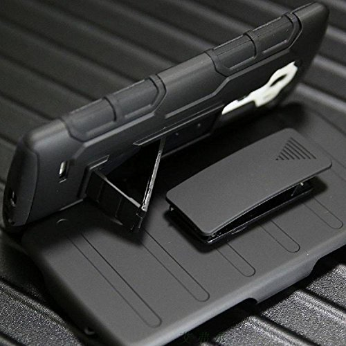 Armatura Quack prova di telefono cellulare Phone telefonico per custodia per LG G3, LG G4with supportano Phone Proteggere Shell nero