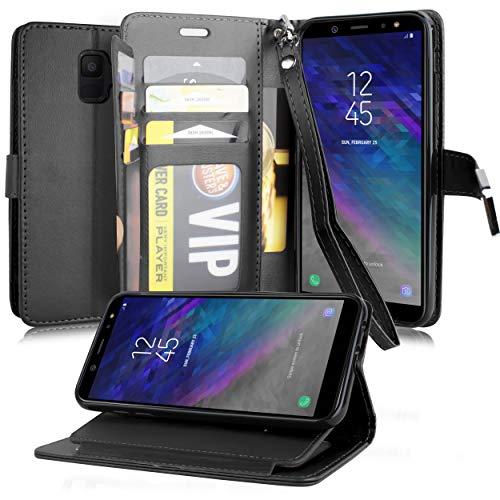 Kompatibel mit Samsung Galaxy A6 2018, Premium Flip Wallet Tasche mit 5 Kartenfächern, 1 ID Cover für Samsung Galaxy A6 SM-A600A 2018, 5.6