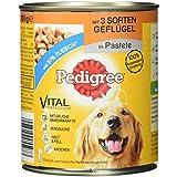 Pedigree Adult Hundefutter 3 Sorten Geflügel, 12 Dosen (12 x 800 g)