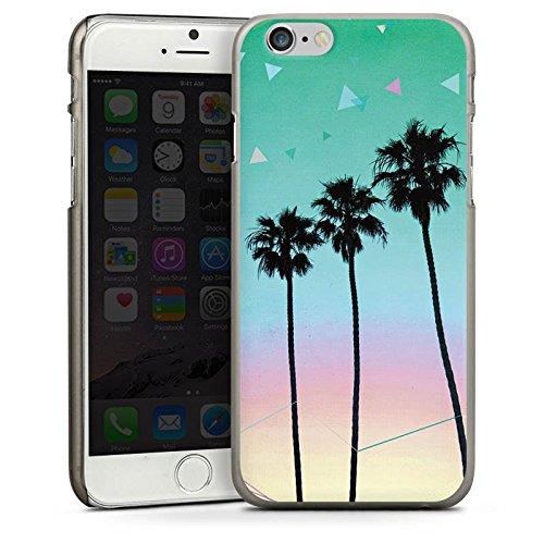 Apple iPhone 5s Housse Étui Protection Coque Palmiers Vacances Voyage CasDur anthracite clair