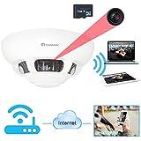 TEKMAGIC 8GB WIFI de Humo Detector Cámara Espía Interior Grabador de Vídeo Pequeña Videocámara para IOS iPhone iPad Vista Remota