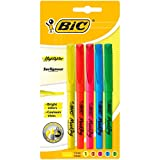 Bic - Brite Liner - Blister de 5 Surligneurs - Jaune/Rose/Vert/Bleu/Orange