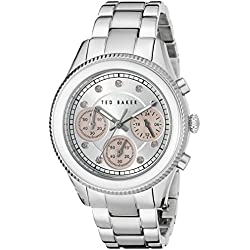 Ted Baker Women's TE4108 Dress Sport Analog Display Japanese Quartz Silver-Tone Watch