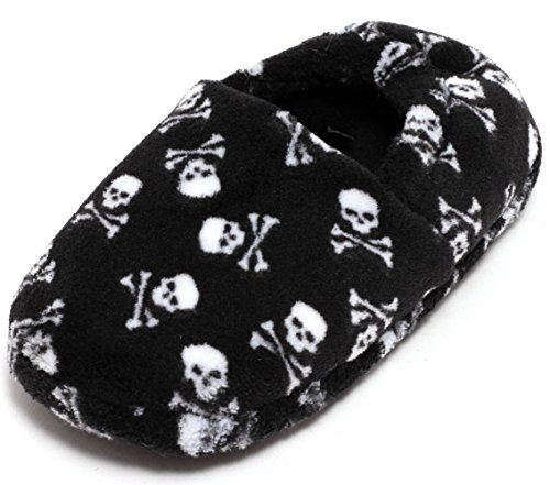 schen Plüschschuhe Soft Schuhe Slipper mit Noppen Gr. 26 – 29 Pirat Schwarz (Halloween Kostüme Einfach Für Die Jungs)