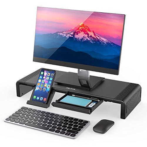 Monitorständer, Bildschirmständer Laptopständer für Computer, Laptop, Bildschirm, Drucker, TV(Schwarz) ()