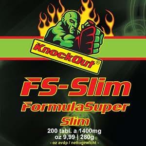 US thermogenetischer Stoffwechselbeschleuniger by KnockOut-Nutrition - FormulaSuperSlim - 200 Tabletten geschmacksneutral