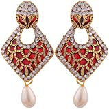 Grandiose Tm. Gold Plated Red Meenakari ...