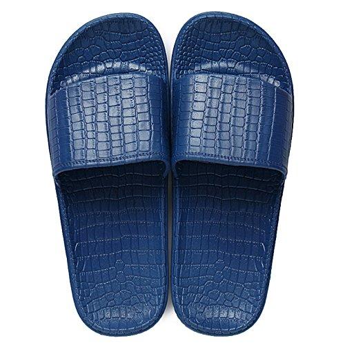 DogHaccd pantofole,Piscina giovane scivoloso home pantofole di balneazione estiva femmina maschio PVC letteralmente bagno cool trascina il coreano Navy